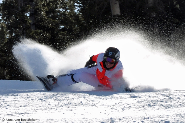 Auch im Schnee bewegt sich Anna von Boetticher immer am Limit.
